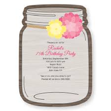 jar invitations 75th birthday invitations 50 gorgeous 75th party invites