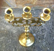 lions for sale 7671 solid brass three candle candelabra with lions for sale