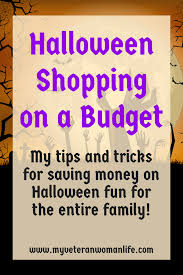 halloween shopping on a budget