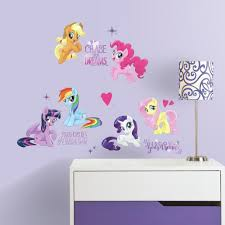 3 wall decals to create a magical my little pony bedroom my little pony the movie wall decals with glitter
