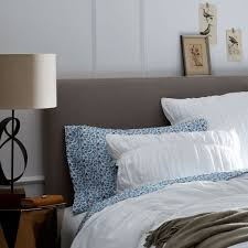 Plush Headboard Beds Simple Upholstered Headboard West Elm