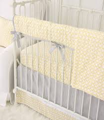 ryan u0027s yellow u0026 gray bumperless crib bedding caden lane