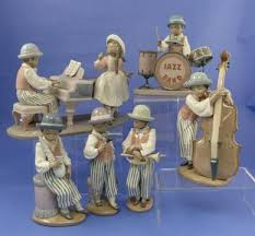lladro jazz band figurines six pieces all boxed including jazz