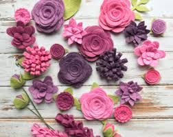 felt flowers wool felt fabric flowers autumn flower embellishment large