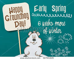 groundhog day cards happy groundhog day greeting card stock vector 565379710