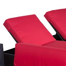 Red Chaise Lounge Sofa by Outsunny 9pc Outdoor Patio Rattan Wicker Sofa Sectional U0026 Chaise