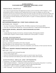 examples of a simple resume cv example studentjob