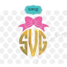 bow monogram bow monogram svg bow svg monogram svg monogram frame svg