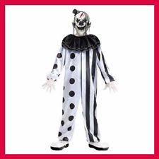 age 8 16 boys krazed jester costume mask halloween fancy dress kids scary clown costume ebay