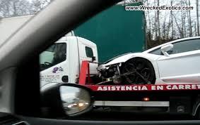crashed lamborghini aventador spotted in belgium