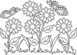 printable coloring pages flowers coloring pages flowers and butterflies printable coloring pages of