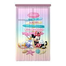 rideaux chambre d enfant disney minnie set 1 rideau pour chambre d enfant porte française