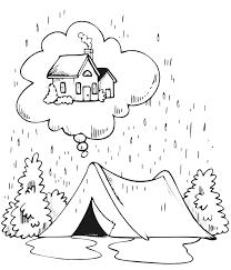 camping coloring camping rain dreaming