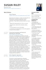 Teacher Resume Samples And Writing by Music Teacher Resume Samples Visualcv Resume Samples Database