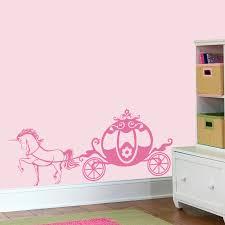 cute pink chariot princess wall decal unicorn girly vinyl sticker