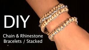 rhinestone chain bracelet images Diy bracelet chain rhinestone bracelet 2 styles stackable arm jpg