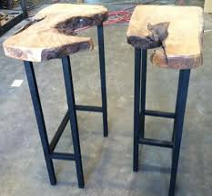 Sofa Table With Stools Live Edge Furniture Accent And Sofa Tables