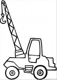 little crane coloring page coloring page free land transport