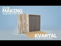 How To Hang Curtains Around Your Bed Kvartal Curtain Track System Instruction Video Ikea Youtube