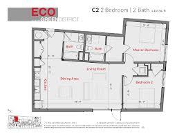Floor Plans For 2 Bedroom Apartments Eco Allston Floor Plans Luxury Layouts