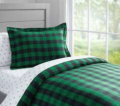 Green Plaid Duvet Cover Kids Cabin Theme Bedrooms U0026 Rustic Decor