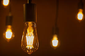 Vintage Lighting Fixture St18 Led Filament Bulb Gold Tint Vintage Light Bulb 40 Watt