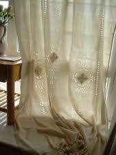 Tab Top Country Curtains French Country Embroidered Cotton Blend Curtains Drapes