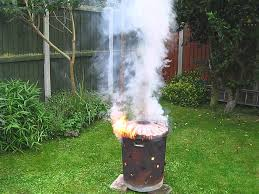 garden incinerator summer burn up fire youtube