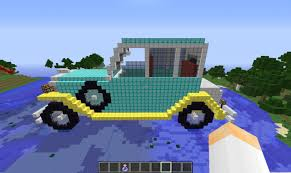 minecraft fire truck vintage car minecraft project