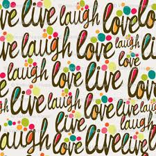 Love Laugh Live Live Love Laugh Fabric Valentinaharper Spoonflower