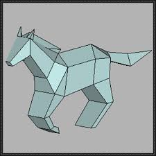 animal paper model horse free template download http www