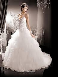 Wedding Dresses With Straps Spaghetti Strap Corset Organza Winter Wedding Dress With Ruffle