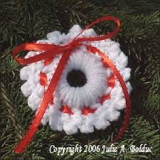 crochet wreath ornament a free pattern listed in the