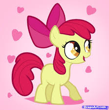 drawn pony cute pencil and in color drawn pony cute