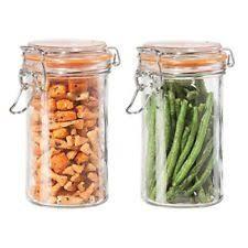 kitchen canisters glass oggi glass kitchen canisters jars ebay
