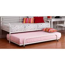 White Metal Daybed With Trundle Dorel Home Trundle For Metal Daybed Colors