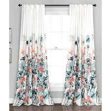 Hotel Room Darkening Curtains Coral And Blue Curtains Lush Blue Coral Flora Room Darkening