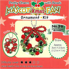 create your own miyuki mascot bead charm christmas ornament kit