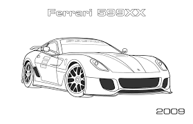 ferrari xx coloring car coloring pages 15447