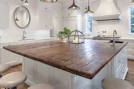 reclaimed wood industrial kitchen island u2014 the clayton design