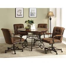 rolling dining room chairs artistic rolling dining room chairs casters for harian metro