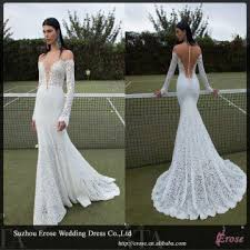 wedding dress lace back and sleeves lj1210 lace sleeve low back wedding dresses