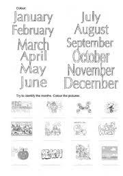 worksheet the months