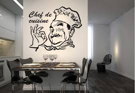 stickers de cuisine chef de cuisine wall sticker