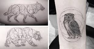 geometric tattoos by dr woo who u0027s been experimenting with ink
