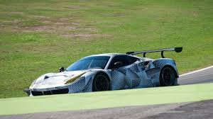 first ferrari race car racing ferrari 488 gte spied for the first time