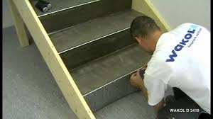 treppe belegen verlegen pvc belä auf treppen wakol d 3410 kontakto