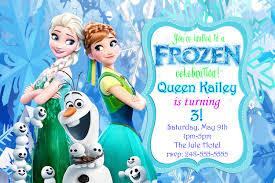 Frozen Invitation Cards Frozen Fever Invitation Templates