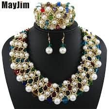 fashion necklace sets images Mayjim statement necklace 2017 fashion jewelry sets handmade bead jpg