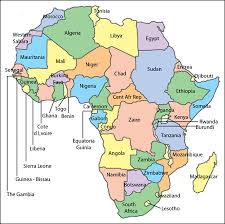 africa map editable africa powerpoint map